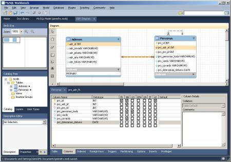 MySQL Workbench Screen