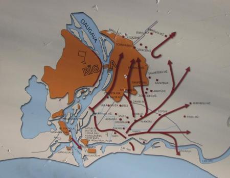 Rīgas atbrīvošanas no Bermonta kauju shēma
