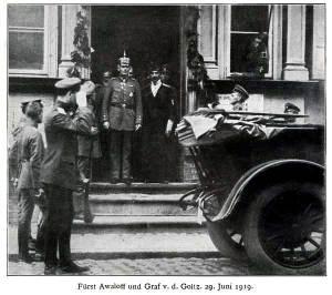 Kņazs Avalovs Bermonts un grāfs fon der Golcs