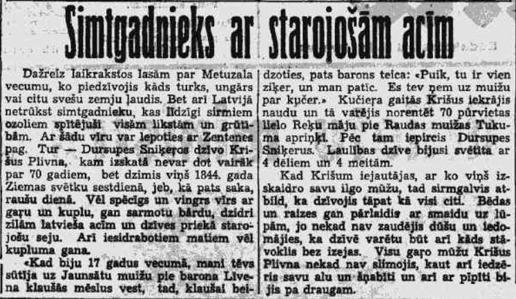 Krišs Plivna, Brīvā Zeme 1937. gads
